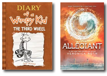 Diary of a Wimpy Kid and Divergent