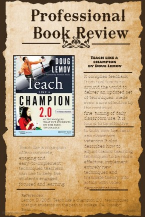 Professional Book Review: Teach Like a Champion by Doug Lemov